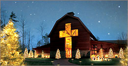 Billy Graham Library at Christmas